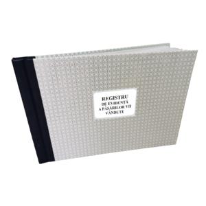 Registru de Evidenta a Pasarilor Vii Vandute A4 personalizat 100 file